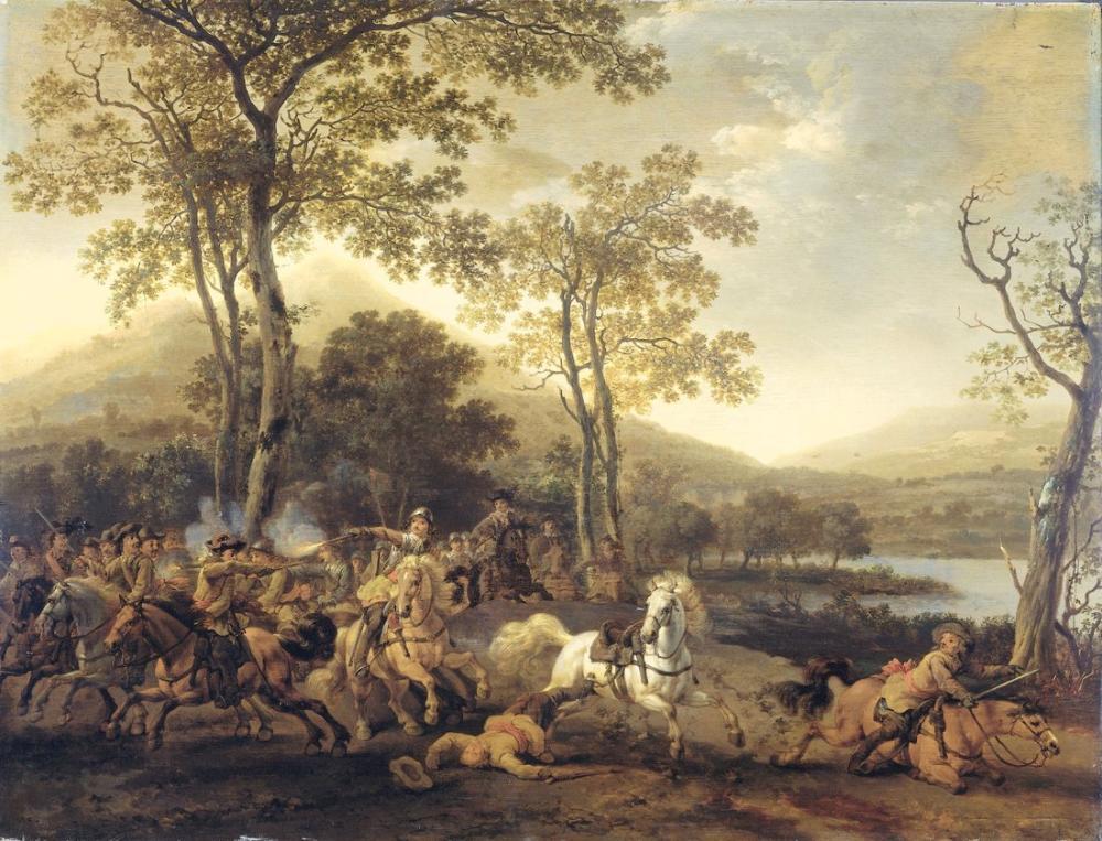 Abraham van Calraet, Cavalry Fighting, Canvas, Abraham van Calraet, kanvas tablo, canvas print sales