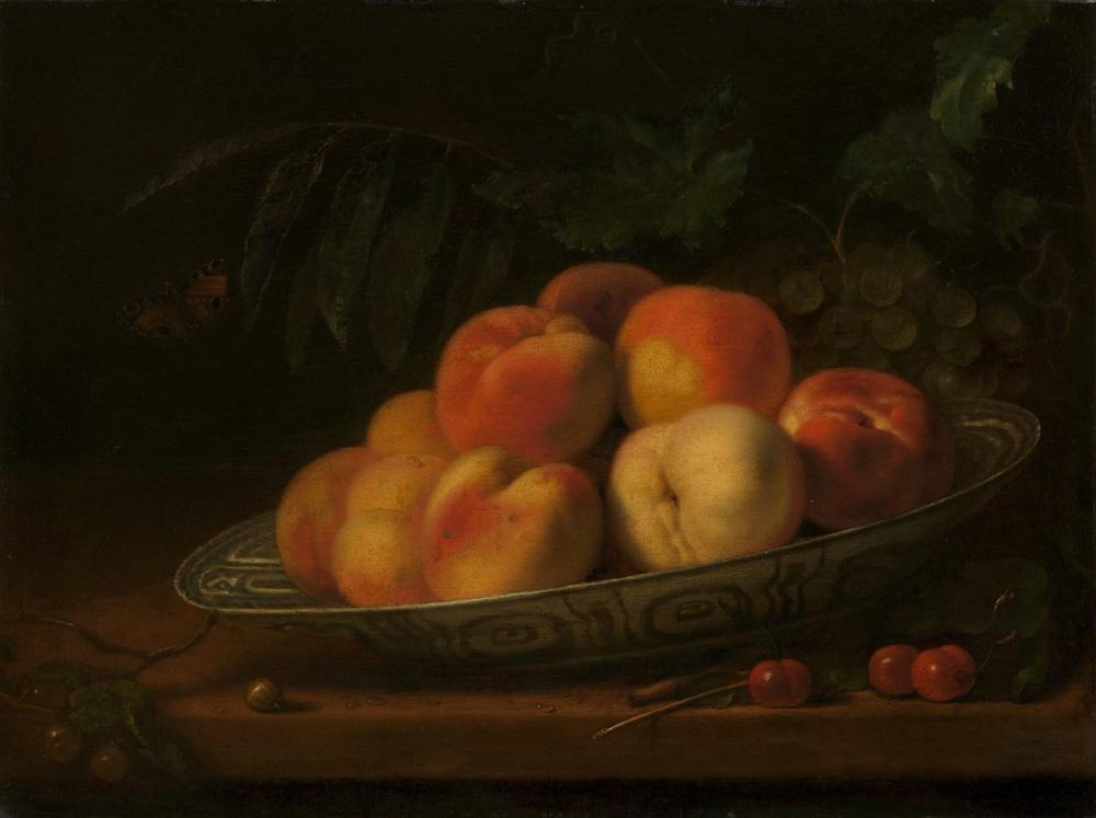 Abraham van Calraet, Şeftali ile Yemek, Kanvas Tablo, Abraham van Calraet, kanvas tablo, canvas print sales
