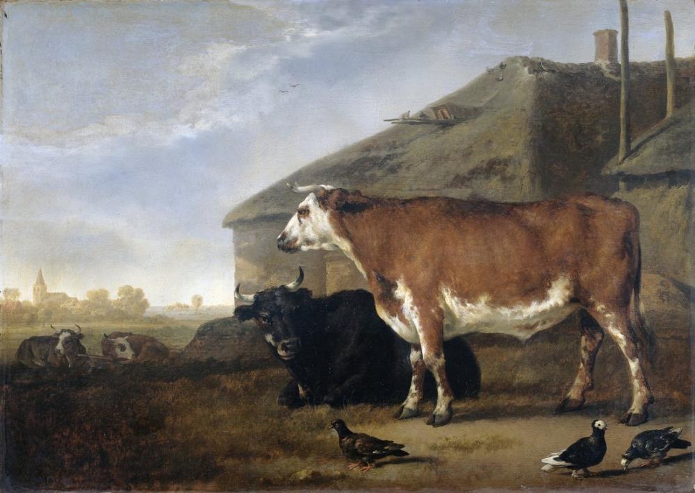 Aelbert Cuyp, A Cow, Canvas, Aelbert Cuyp, kanvas tablo, canvas print sales