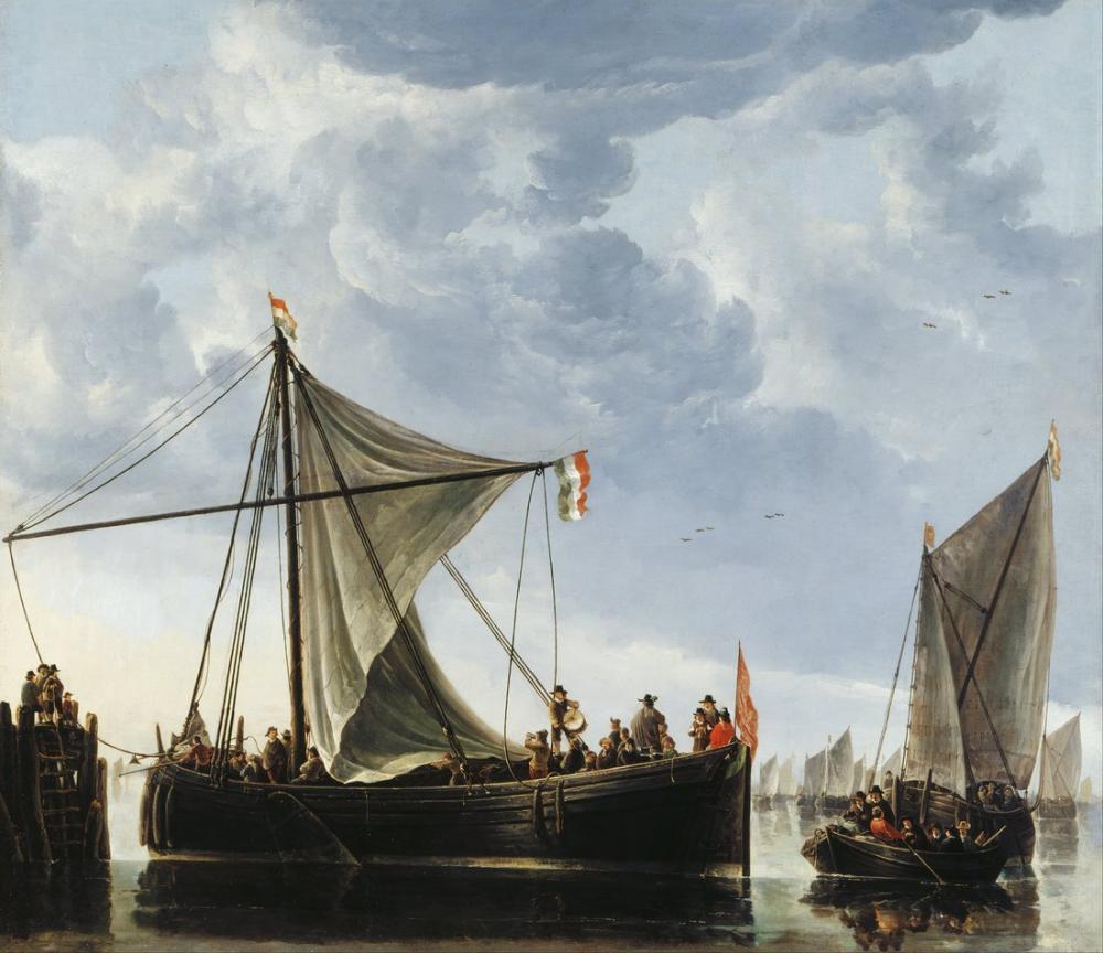 Aelbert Cuyp, Geçit Teknesi, Kanvas Tablo, Aelbert Cuyp