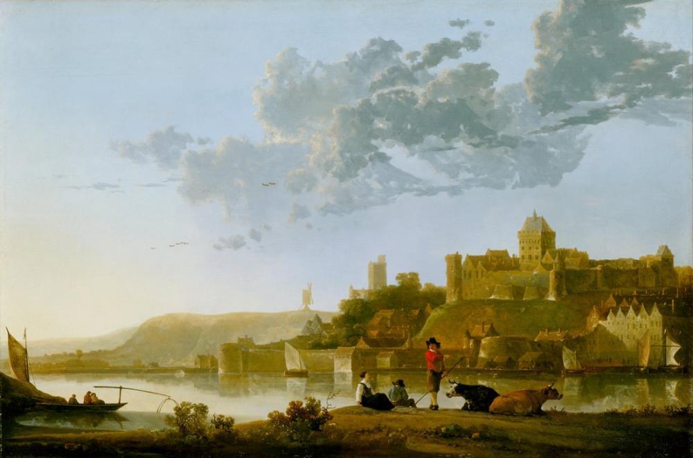 Aelbert Cuyp, The Valkhof at Nijmegen, Canvas, Aelbert Cuyp, kanvas tablo, canvas print sales