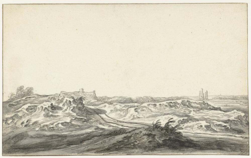 Aelbert Cuyp, Haarlem Yakınındaki Huis te Kleef Tepeleri Görünümü, Kanvas Tablo, Aelbert Cuyp