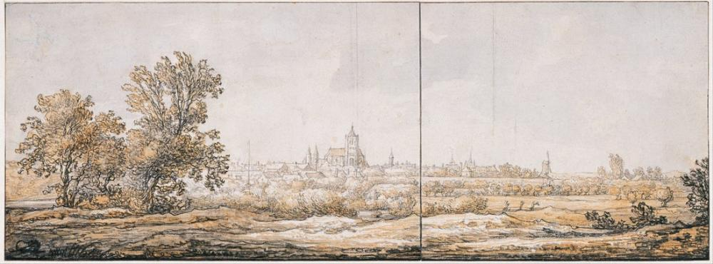 Aelbert Cuyp, Arnhem Güneyden Görünüm, Kanvas Tablo, Aelbert Cuyp