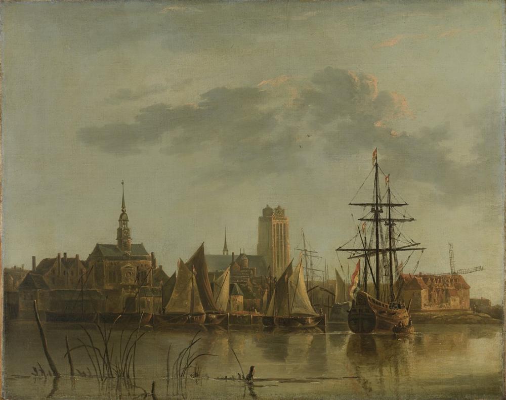 Aelbert Cuyp, Gün Batımında Dordrecht Görünümü, Kanvas Tablo, Aelbert Cuyp, kanvas tablo, canvas print sales