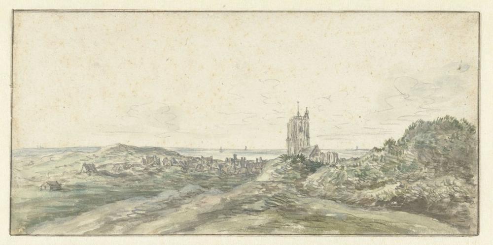 Aelbert Cuyp, Egmond aan Zee Görünümü, Kanvas Tablo, Aelbert Cuyp