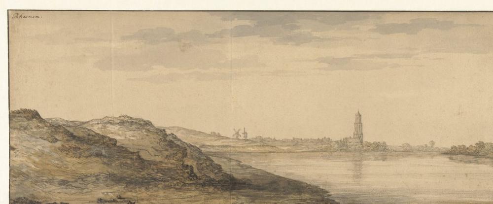 Aelbert Cuyp, View of Rhenen, Canvas, Aelbert Cuyp, kanvas tablo, canvas print sales