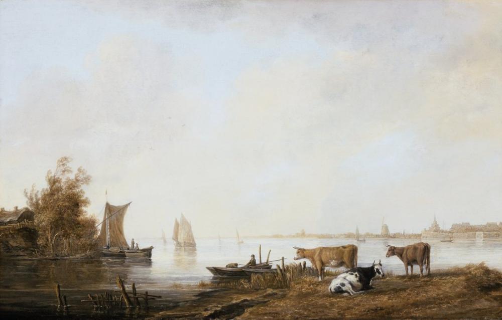 Aelbert Cuyp, Dordrecht Yakınındaki Maas Görünümü, Kanvas Tablo, Aelbert Cuyp