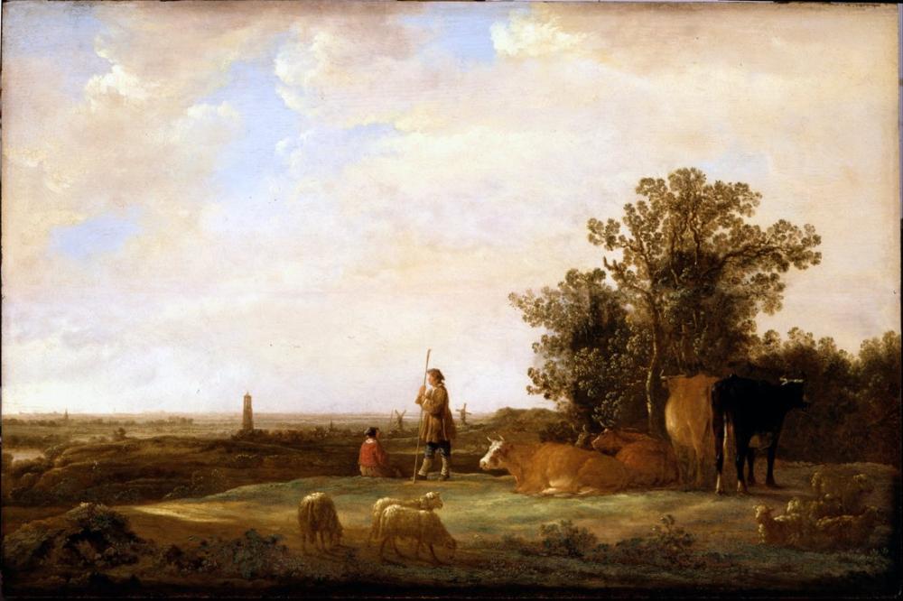 Aelbert Cuyp, View on a Plain, Canvas, Aelbert Cuyp, kanvas tablo, canvas print sales