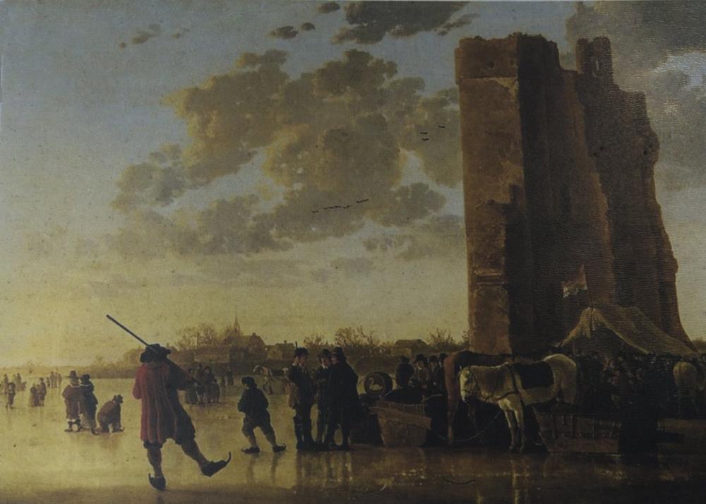 Aelbert Cuyp, Huis te Merwede Kalıntıları İle, Kanvas Tablo, Aelbert Cuyp, kanvas tablo, canvas print sales