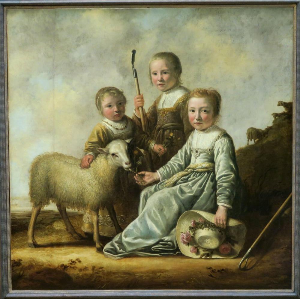 Aelbert Cuyp, Çoban Giysili Çocuklar, Kanvas Tablo, Aelbert Cuyp