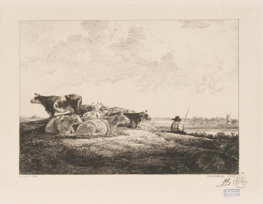Aelbert Cuyp, İnekler Su Kenarında, Kanvas Tablo, Aelbert Cuyp