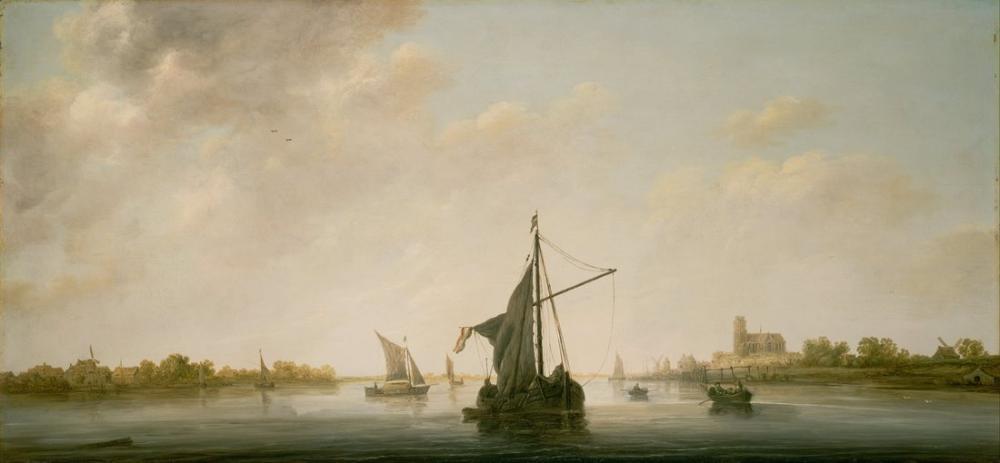 Aelbert Cuyp, Hollandalı Dordrecht Maas Bir Görünüm, Kanvas Tablo, Aelbert Cuyp, kanvas tablo, canvas print sales