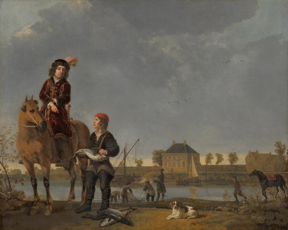 Aelbert Cuyp, Pieter de Roovere'nin Binicilik Portresi, Kanvas Tablo, Aelbert Cuyp