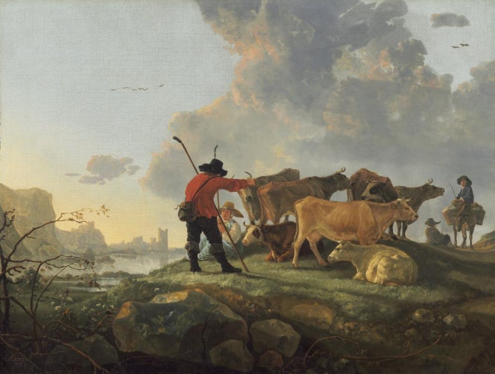 Aelbert Cuyp, Büyükbaş Hayvancılık, Kanvas Tablo, Aelbert Cuyp