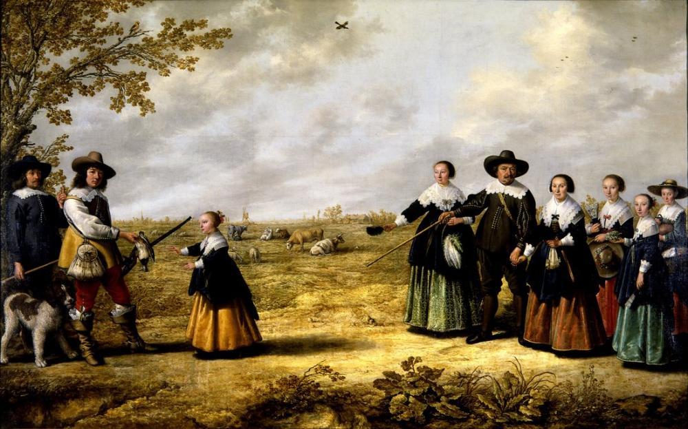 Aelbert Cuyp, Jacob ve Manzarada Bir Aile Portresi, Kanvas Tablo, Aelbert Cuyp