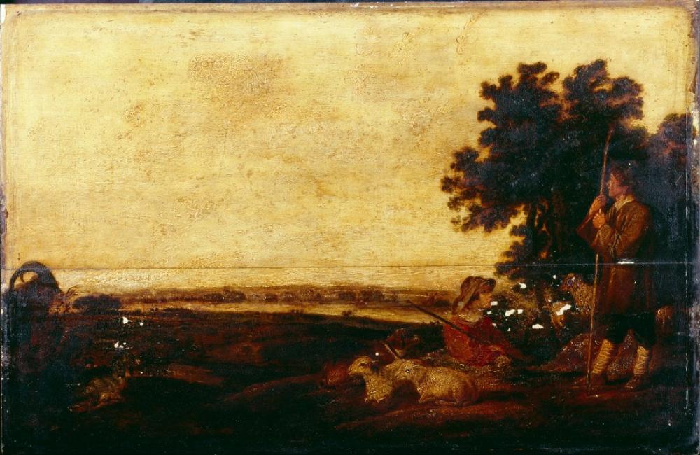 Aelbert Cuyp, Çobanlar ile Manzara, Kanvas Tablo, Aelbert Cuyp, kanvas tablo, canvas print sales