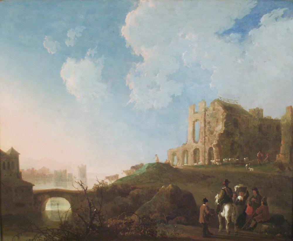 Aelbert Cuyp, Rijnsburg Manastırı Kalıntıları ile Manzara, Kanvas Tablo, Aelbert Cuyp, kanvas tablo, canvas print sales