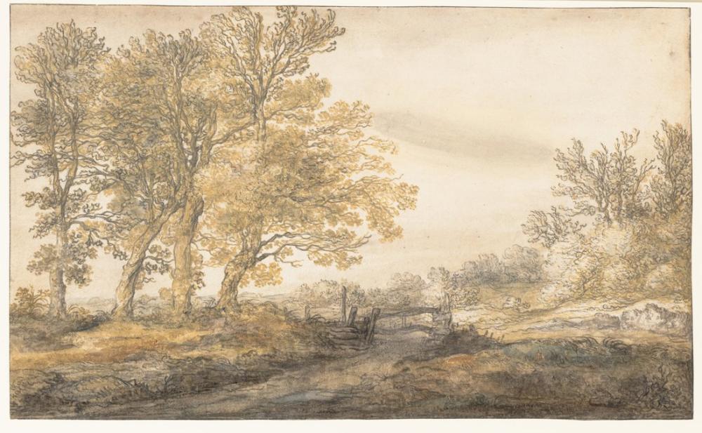 Aelbert Cuyp, Ağaçları ile Manzara, Kanvas Tablo, Aelbert Cuyp