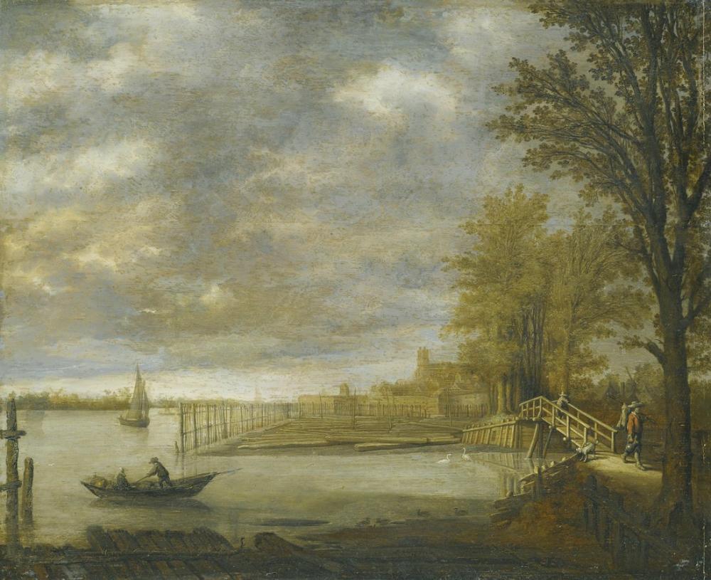 Aelbert Cuyp, Dordrecht Yakınındaki Oduncu, Kanvas Tablo, Aelbert Cuyp