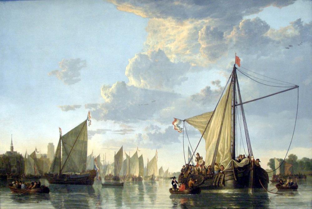 Aelbert Cuyp, Maas at Dordrecht, Kanvas Tablo, Aelbert Cuyp