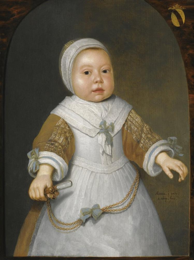 Aelbert Cuyp, Portrait of a Girl from the Van der Burch Family, Canvas, Aelbert Cuyp, kanvas tablo, canvas print sales