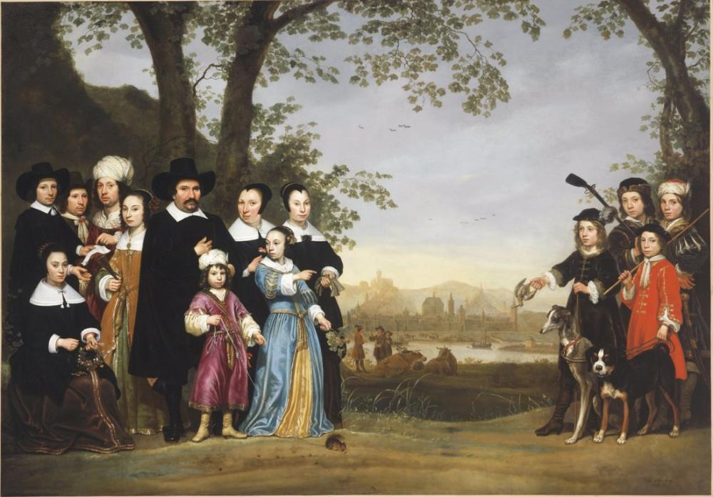 Aelbert Cuyp, Sam Ailesinin Portresi, Kanvas Tablo, Aelbert Cuyp, kanvas tablo, canvas print sales