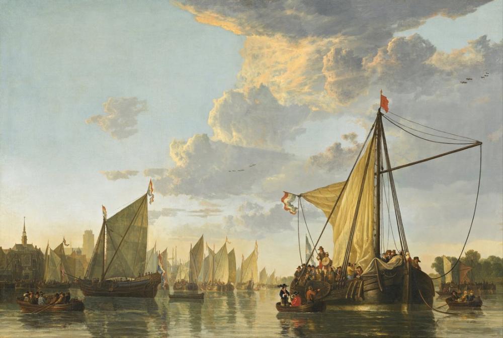 Aelbert Cuyp, Dordrecht'teki Maas, Kanvas Tablo, Aelbert Cuyp