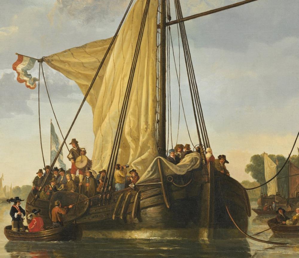 Aelbert Cuyp, The Maas at Dordrecht, Kanvas Tablo, Aelbert Cuyp