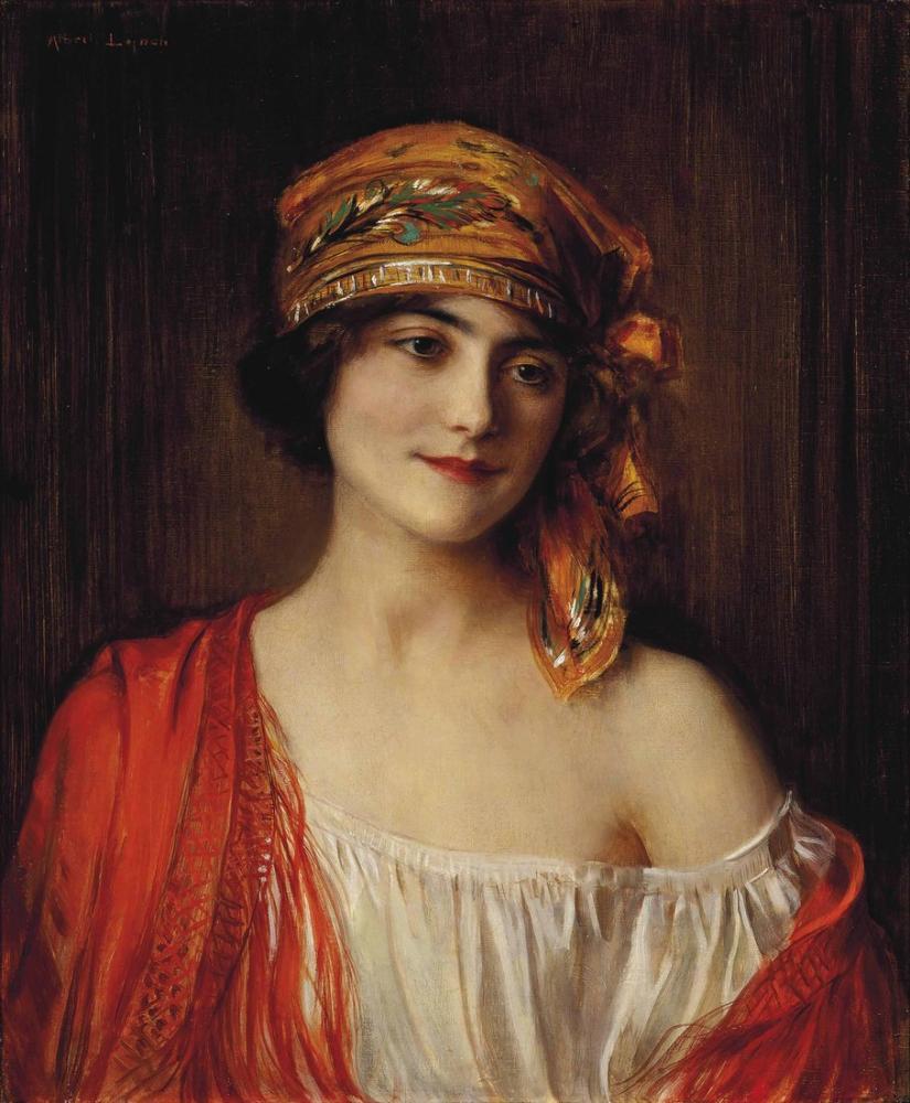 Albert Lynch Genç Bir Güzellik, Kanvas Tablo, Albert Lynch, kanvas tablo, canvas print sales