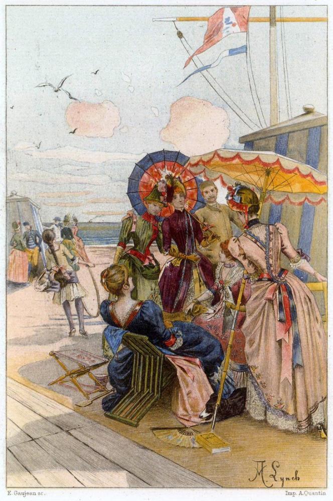Albert Lynch Kadın Çağdaşlar Yüzyılın Sonu, Kanvas Tablo, Albert Lynch, kanvas tablo, canvas print sales