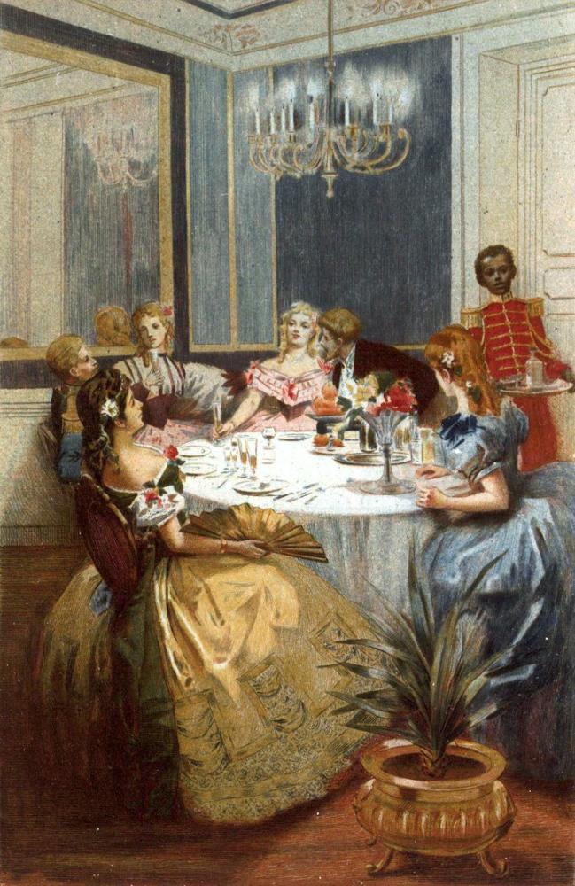 Albert Lynch İkinci İmparatorluğun Altındaki Parisli Kadınlar, Kanvas Tablo, Albert Lynch