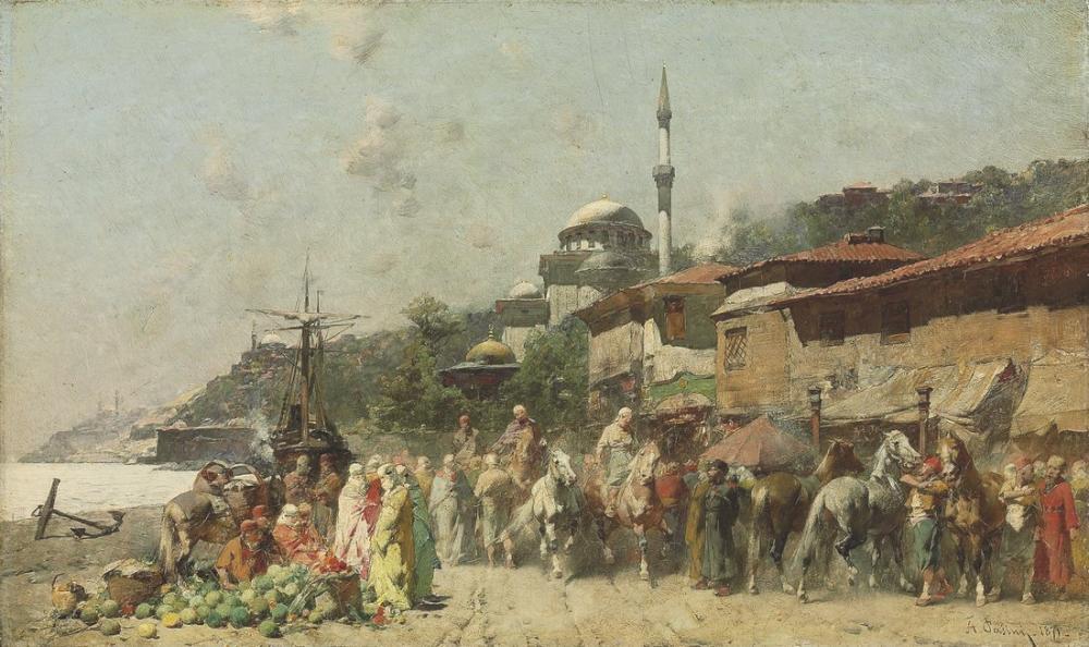 Alberto Pasini Boğazda Bir Pazar, Oryantalizm, Alberto Pasini