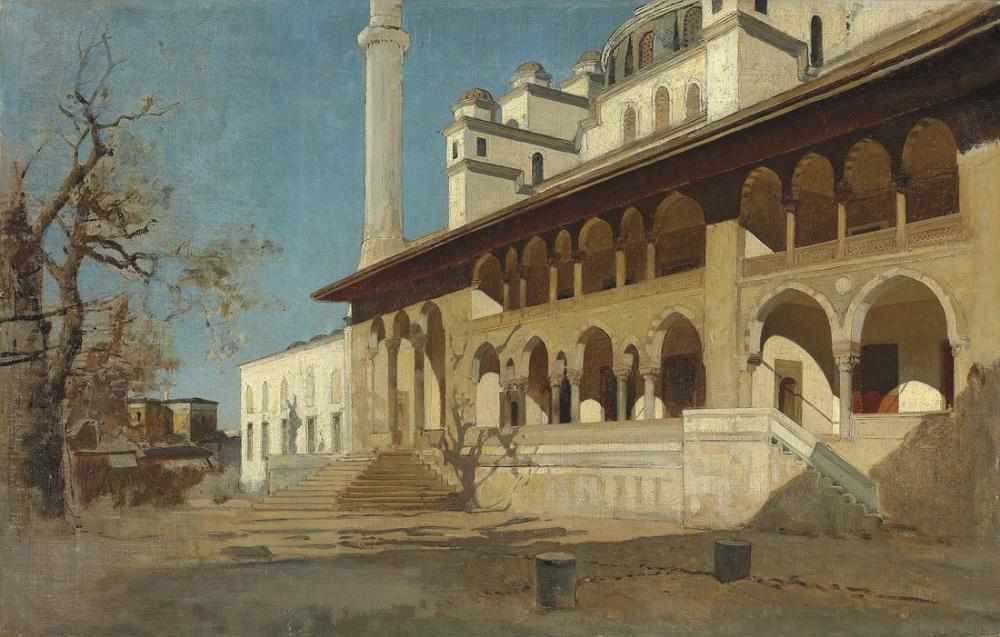 Alberto Pasini Yeni Cami Camii İstanbul, Oryantalizm, Alberto Pasini, kanvas tablo, canvas print sales