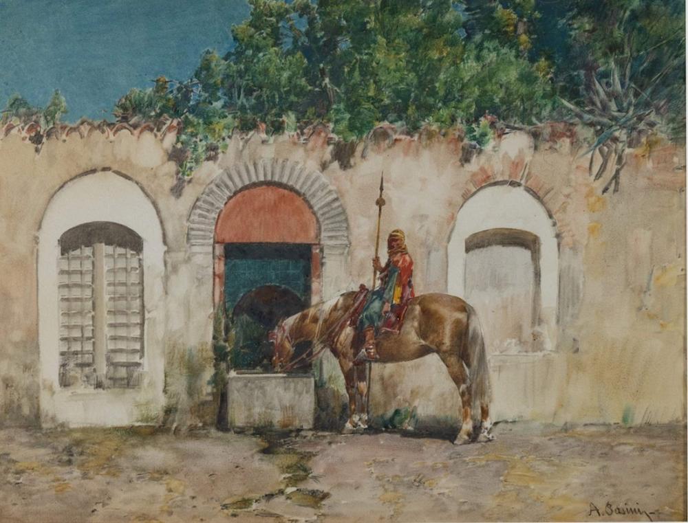 Alberto Pasini Asur Süvari, Oryantalizm, Alberto Pasini, kanvas tablo, canvas print sales