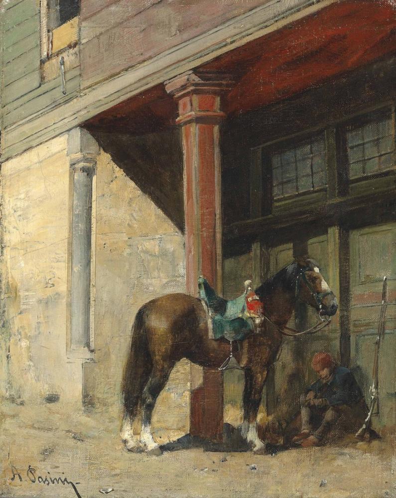Alberto Pasini Atıyla Birlikte Dinlenme Bekçisi, Oryantalizm, Alberto Pasini