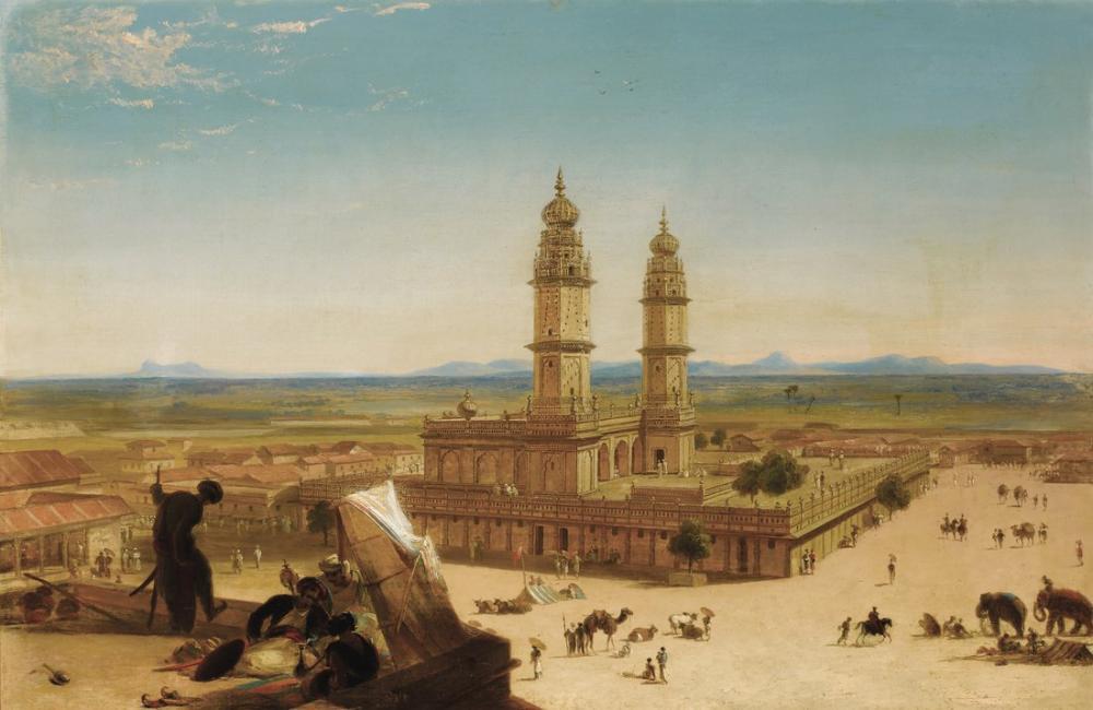 Alberto Pasini Oriental Landscape With Mosque, Orientalism, Alberto Pasini, kanvas tablo, canvas print sales