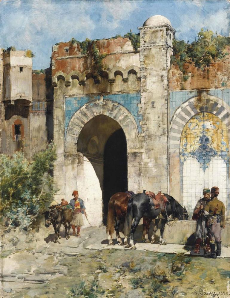 Alberto Pasini Atları Sulama, Oryantalizm, Alberto Pasini