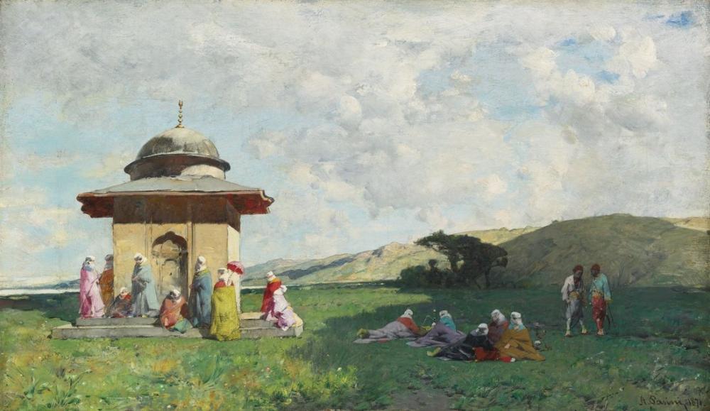 Alberto Pasini Türk Türbesinde Bir Kadın, Oryantalizm, Alberto Pasini