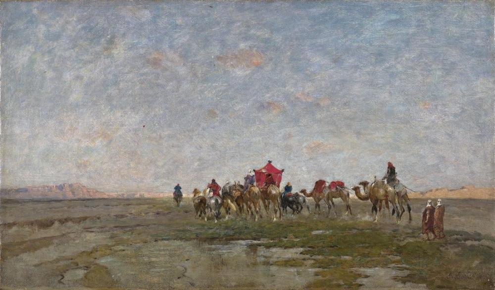 Alberto Pasini Çölde Karavan, Oryantalizm, Alberto Pasini