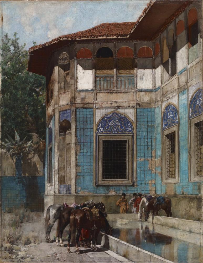 Alberto Pasini Şam, Oryantalizm, Alberto Pasini, kanvas tablo, canvas print sales