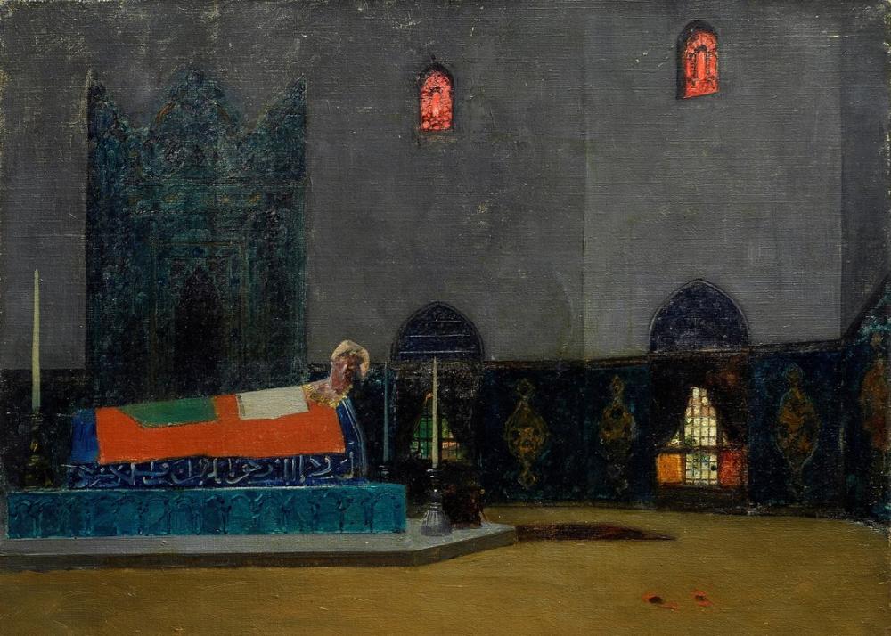 Alberto Pasini The Tomb, Orientalism, Alberto Pasini, kanvas tablo, canvas print sales