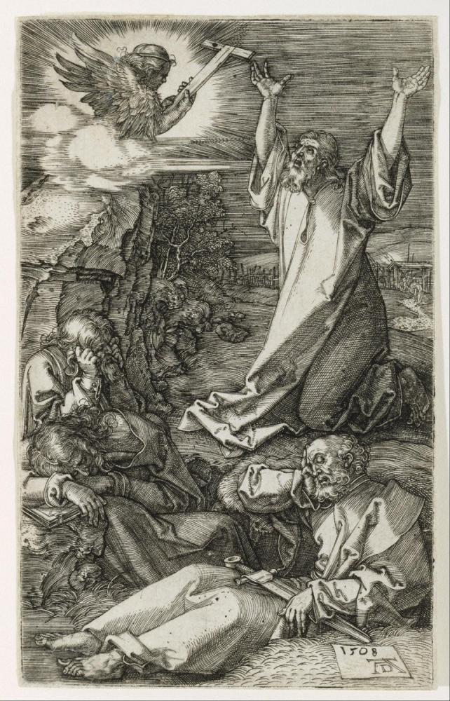 Albrecht Dürer Zeytin Dağı Mesih, Kanvas Tablo, Albrecht Dürer, kanvas tablo, canvas print sales
