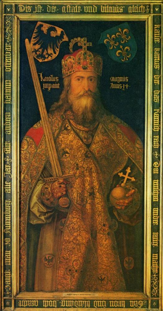 Albrecht Dürer Emperor Charlemagne, Canvas, Albrecht Dürer, kanvas tablo, canvas print sales
