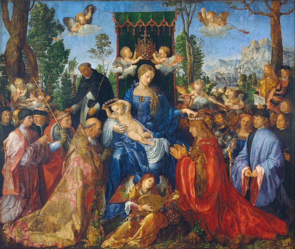 Albrecht Dürer Rose Garlands Bayramı, Kanvas Tablo, Albrecht Dürer