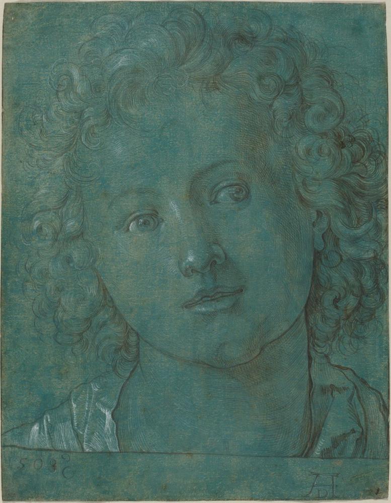 Albrecht Dürer Erkek Çocuk Başı, Kanvas Tablo, Albrecht Dürer