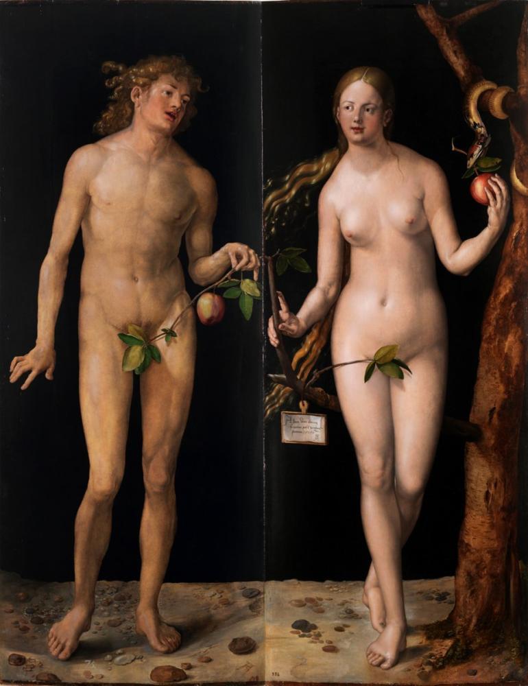 Albrecht Dürer Adem Ve Havva, Kanvas Tablo, Albrecht Dürer