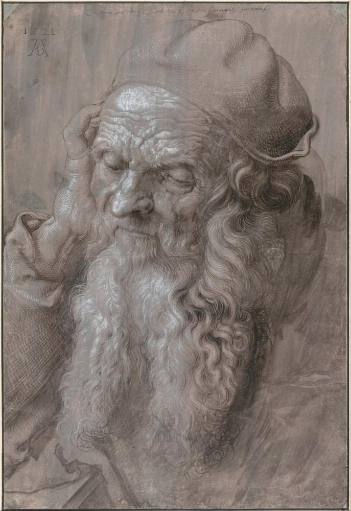 Albrecht Dürer Yaşlı Bir Adamın Başı, Kanvas Tablo, Albrecht Dürer, kanvas tablo, canvas print sales