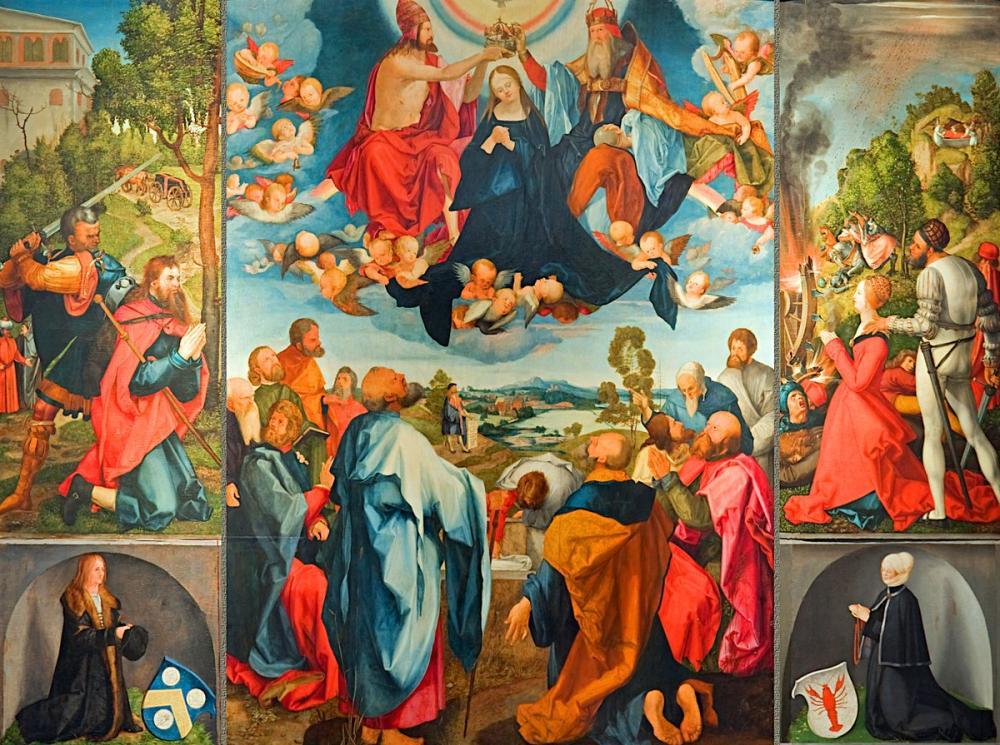 Albrecht Dürer Heller Altar, Canvas, Albrecht Dürer, kanvas tablo, canvas print sales