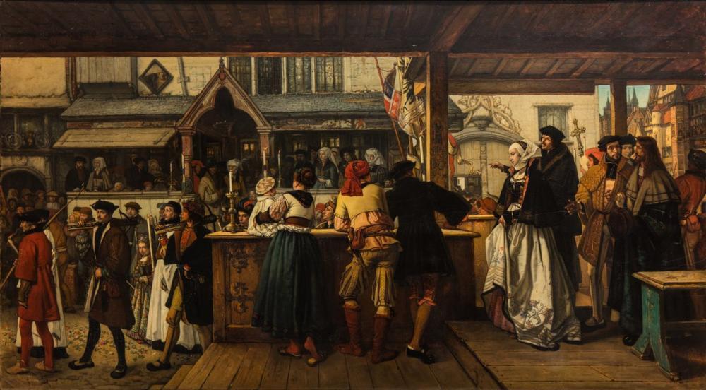 Albrecht Dürer Henri Leys Visiting Antwerp, Canvas, Albrecht Dürer, kanvas tablo, canvas print sales