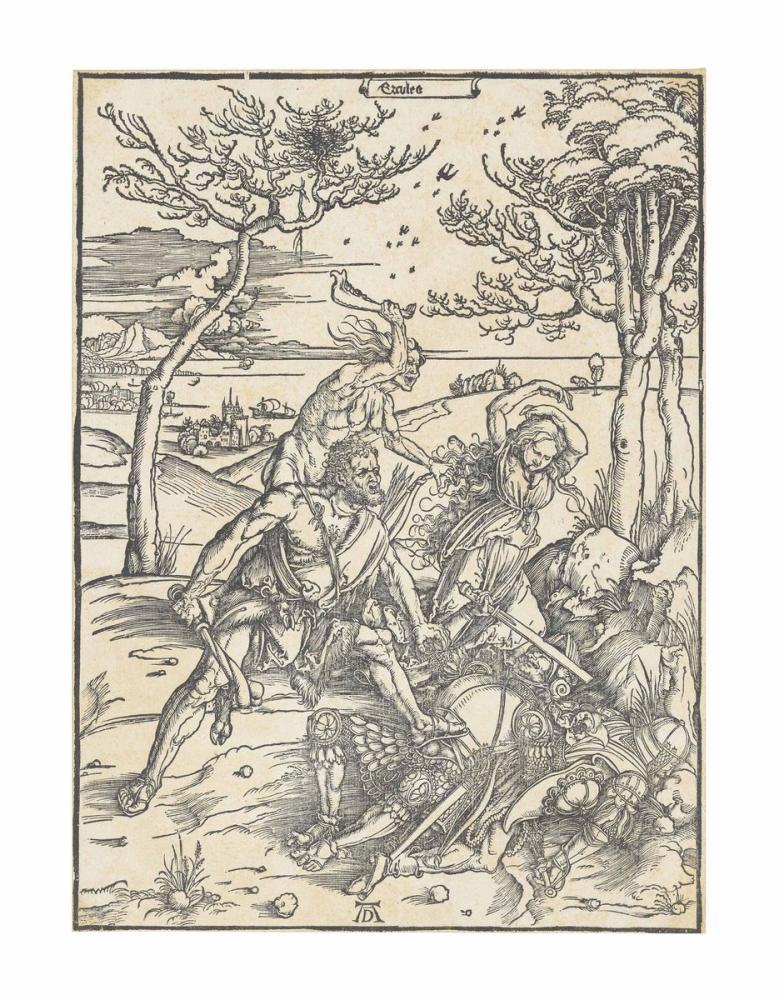 Albrecht Dürer Hercules Conquering Cacus, Canvas, Albrecht Dürer